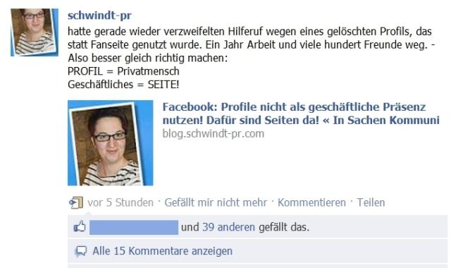 Annette Schwindt Facebook Fanseite Privatprofil